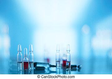 Medical syringe and vials