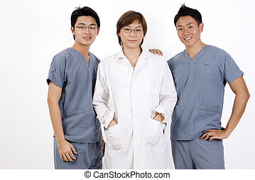 Medical Team - A group of three medical professionals