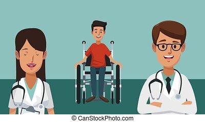 Medical team cartoon HD animation - Doctor and medical team...