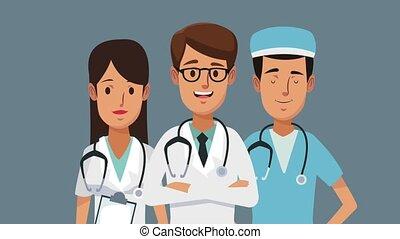 Medical team cartoon HD animation