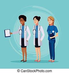 Medical team cartoon