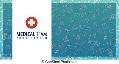 Medical Team. Medical background. Health care. Vector medicine illustration.