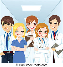 Medical Team Professionals - Group of medical team...