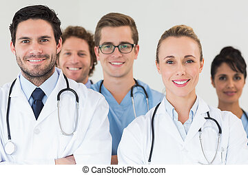 Medical team smiling together