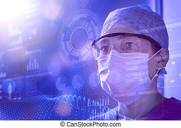 Medical technology futuristic background.