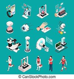 Medical Technology Isometric Icons