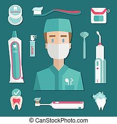 Medical teeth hygiene elements