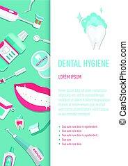 Medical teeth hygiene infographic leaflet