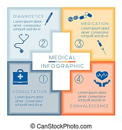 Medical template infographic conceptual vector illustration...
