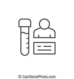 Medical test line outline icon