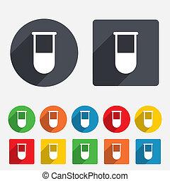 Medical test tube sign icon. Lab equipment. - Medical test...