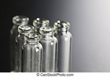 Medical test tubes set on isolate background