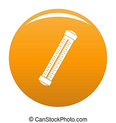 Medical thermometer icon orange