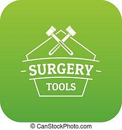 Medical tool icon green vector