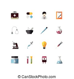 Medical tools element of icons set
