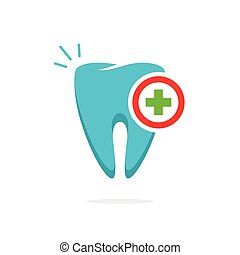 Medical tooth logo vector, dental logotype idea