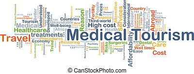 Medical tourism background concept