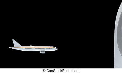 Medical tourism - Render illustration of commercial airliner...