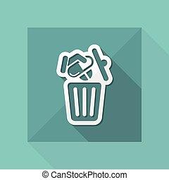 Medical trash bin