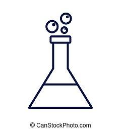 medical tube test flask laboratory line icon