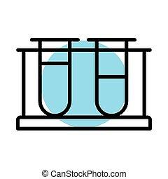 medical tubes test laboratory line icon