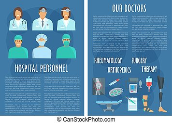 Medical vector brochure of hospital doctors - Hospital...