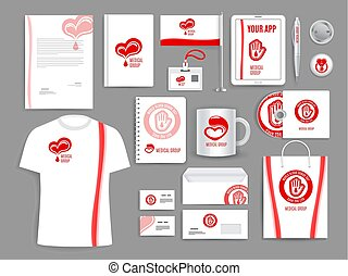 Medical vector templates for blood donation - Blood donation...