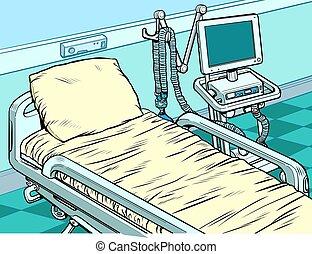 medical ventilator machine. Pop art retro vector ...