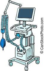 medical ventilator, treatment of lung diseases, coma. Pop ...