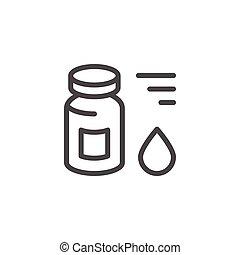 Medical vial line icon