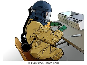 Medical Virology Research Scientist Works in a Protective ...