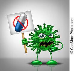 Medical Virus Medication Concept