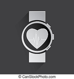 medical watch web icon.