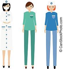 Medical women team. Nurse, paramedic, doctor