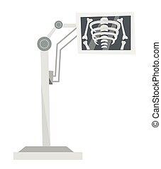 Medical x-ray machine vector cartoon illustration. - Medical...
