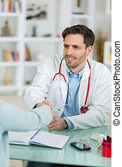 medical young doctor handshaking