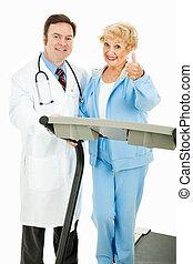 medically, gesurveilleerd, oefening, programma