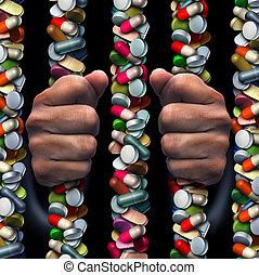medicamento prescrito, vício