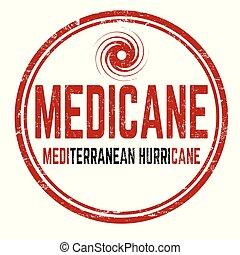 Medicane sign or stamp