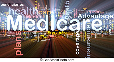Medicare background concept glowing - Background concept...