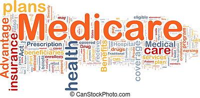 medicare, plano de fondo, concepto