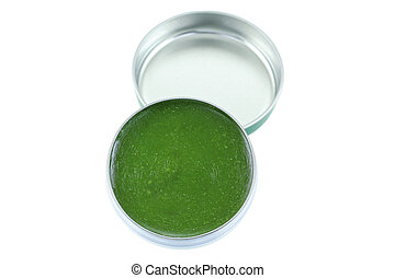 Medicated ointment in green