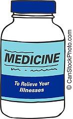 Medication Bottle for Sickness