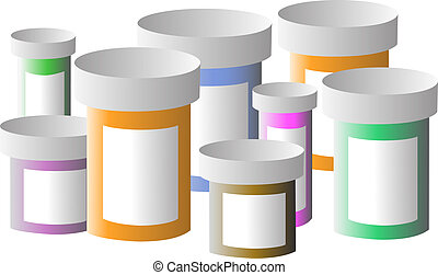 Medication Bottles - Several medication bottles next to one ...
