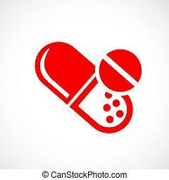 Medication vector icon