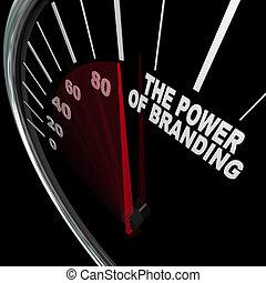 medición, branding, velocímetro, lealtad, potencia