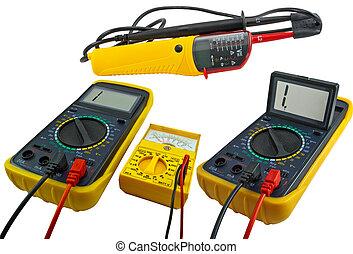 medición, dispositivos, digital