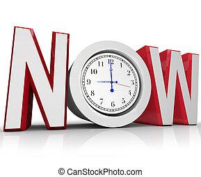 medición, emergencia, reloj, tiempo, ahora, o, urgencia