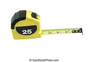 medición equipaa herramienta, 009, cinta, aislado