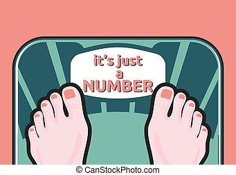 medición, mujer